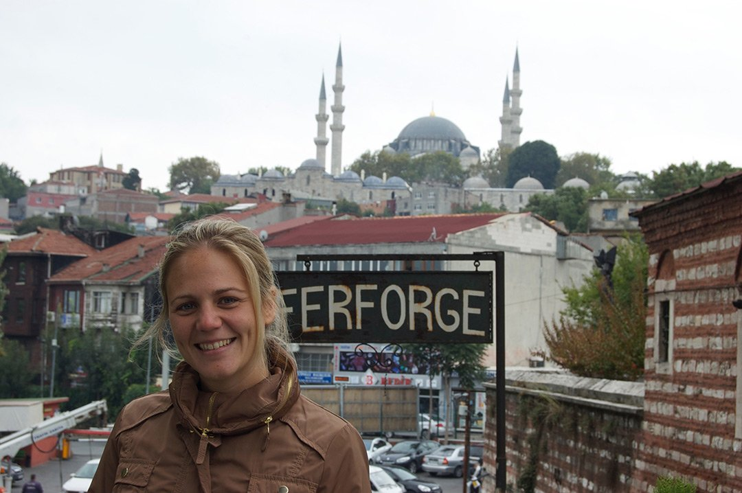 Melania en Estambul